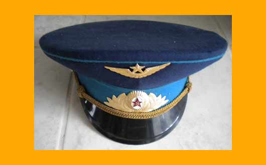 Russian Officer Hat of the Soviet Airforce
